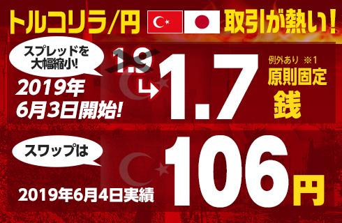 ヒロセ通商のトルコリラ円